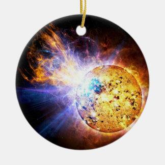 Small Star Large Flare Ceramic Ornament