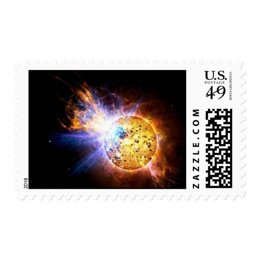 Small Star Large Flare Postage Stamp