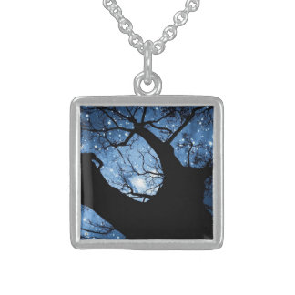 Small Sterling Silver Square Necklace