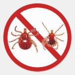 Small Stickers, Lyme Disease Tick (White)