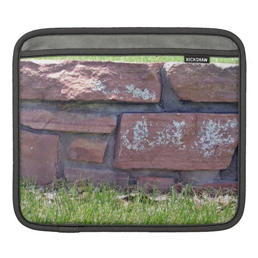 Small Stone Wall In a Grassy Landscape iPad Sleeve