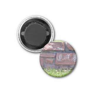 Small Stone Wall In a Grassy Landscape Fridge Magnets