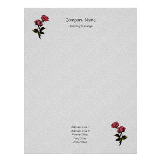 Small Stones Roses Stationery Letterhead