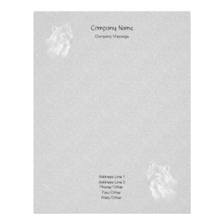 Small Stones Wolves Stationery Letterhead