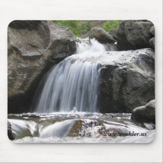 Small stream waterfall mouse pad