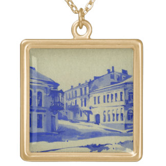 Small streets in the old town custom necklace