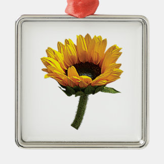 Small Sunflower Metal Ornament