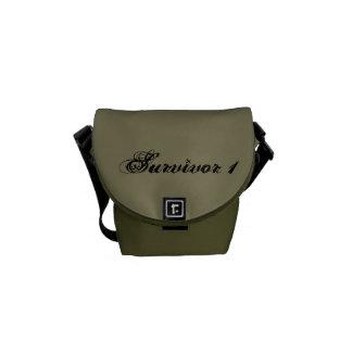 Small Survivor 1 Taupe and Moss Messenger Bag