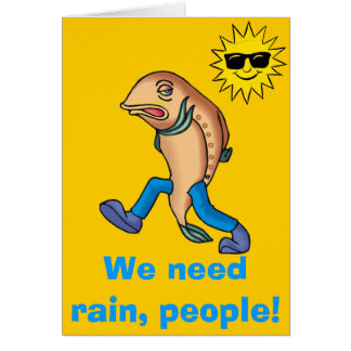Small Talk Collection - Fish Out of Water Greeting Card