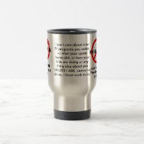 Small Talk is Verbal SPAM 2 Travel Mug