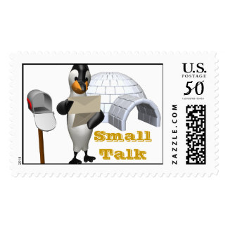 Small Talk Penquin Stamp
