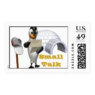 Small Talk Penquin Stamp