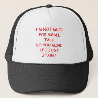 small talk trucker hat