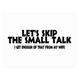 Small Talk Wife Postcard