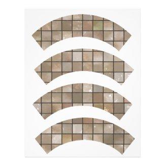 Small Tan Floor Tile Cupcake Wrapper Letterhead Design