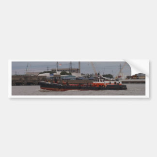 Small Tanker On The Thames Bumper Sticker