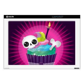Small tasty cake with a skull for a gothic party decal for laptop