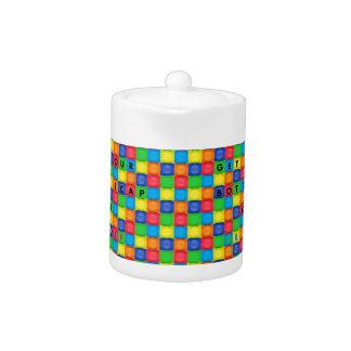 Small Teapot with Fun BottleCap Design