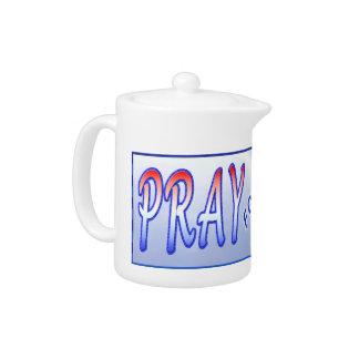 Small TeaPots,  PRAY for USA Teapot