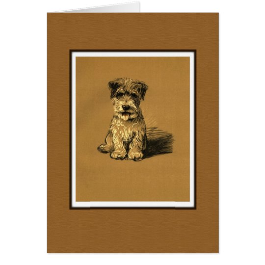 Small Terrier Puppy Dog Card
