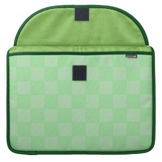 Small Textured Green Patchwork Pattern Sleeve For MacBook Pro