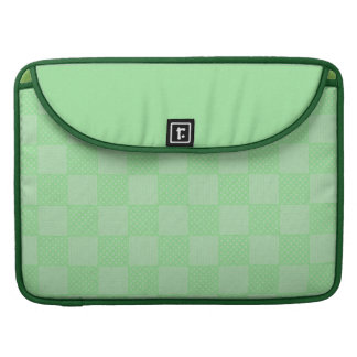 Small Textured Green Patchwork Pattern Sleeve For MacBooks