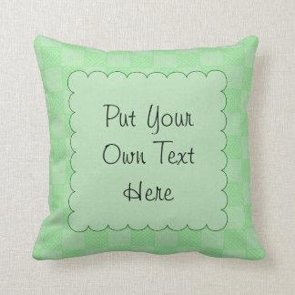 Small Textured Green Patchwork Pattern Pillow