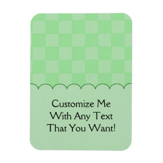 Small Textured Green Patchwork Pattern Magnet