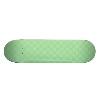 Small Textured Green Patchwork Pattern Skate Board Deck