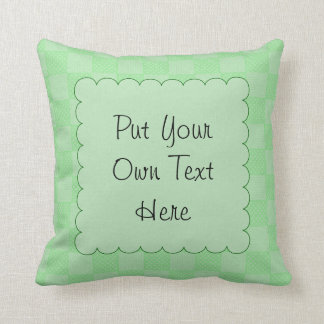 Small Textured Green Patchwork Pattern Throw Pillow