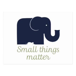 Small things matter.pdf postcard