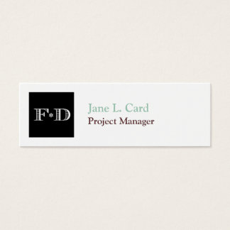 Small thumbnail logo simply chic white brown mini business card