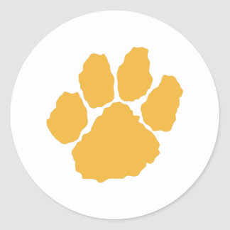 SMALL TIGER PAW PRINT CLASSIC ROUND STICKER