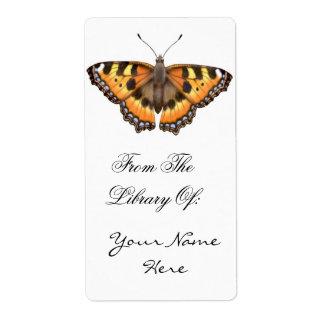 Small Tortoiseshell Butterfly Bookplate