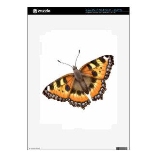 Small Tortoiseshell Butterfly Zazzle Skin iPad 3 Decals