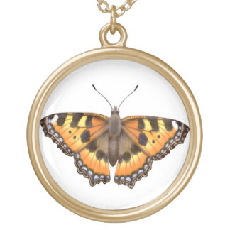 Small Tortoiseshell Vanessa Butterfly Necklace