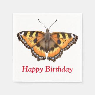 Small Tortoiseshell Vanessa Butterfly Paper Napkin