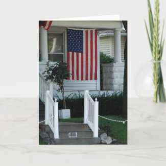 Small Town America Front Porch card