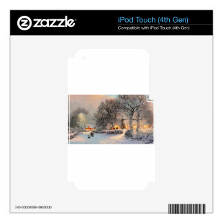 Small Town Americana; Brothers Walking In New Snow iPod Touch 4G Skins