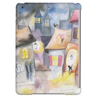 Small town at night cover for iPad air