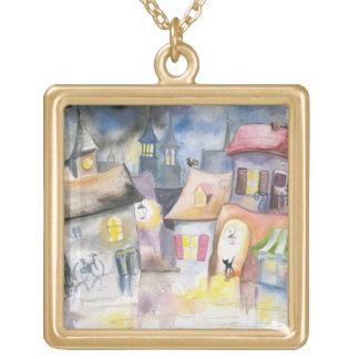 Small town at night custom jewelry