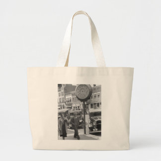 Small Town, Big Clock, 1930s Tote Bags