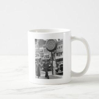 Small Town, Big Clock, 1930s Coffee Mug