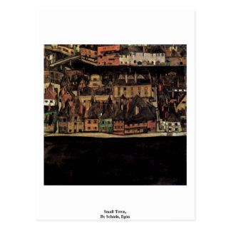Small Town,  By Schiele, Egon Postcard