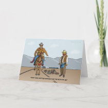 Small Town Cowboys Greeting Card