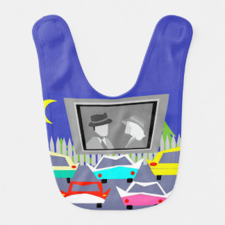 Small Town Drive-In Movie Baby Bib