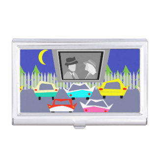 Small Town Drive-In Movie Business Card Holder
