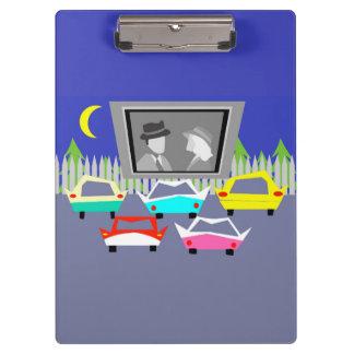 Small Town Drive-In Movie Clip Board Clipboards