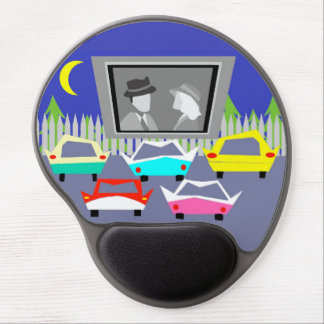 Small Town Drive-In Movie Gel Mousepad