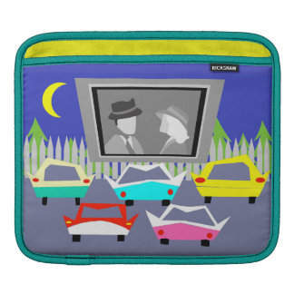 Small Town Drive-In Movie iPad Sleeve